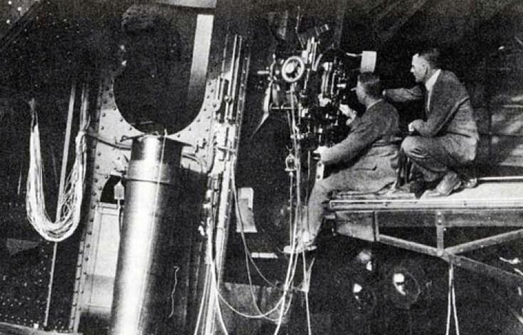 Humason e Hubble sul Monte Wilson