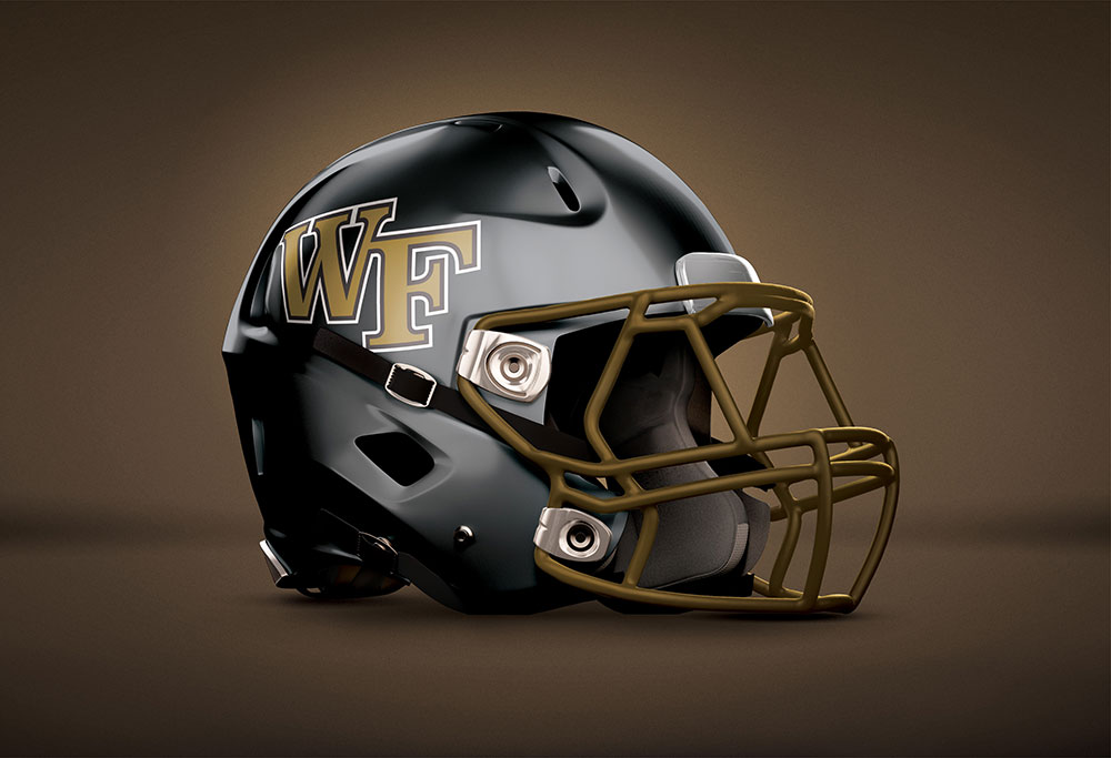 Wake Forest Football Helmet