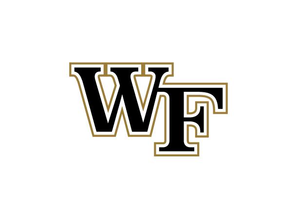 Wake Forest WF Primary Mark Logo (White)