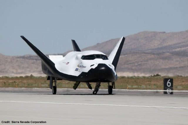 Il Dream Chaser fermo sulla pista a fine test. Credits: Sierra Nevada Corporation