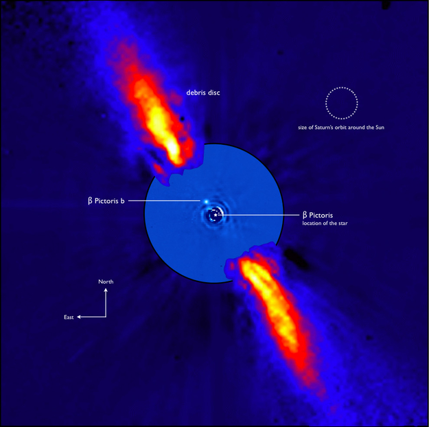 Planet Beta Pictoris b. Kredit: ESO/A-M. Lagrange et al.