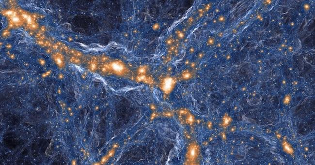 Jaringan kosmik pada alam semesta dini. Kredit: TNG COLLABORATION.