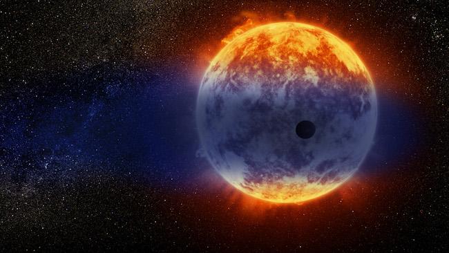 Ilustrasi eksoplanet GJ 3740b, planet Neptunus hangat yang kehilangan atmosfernya. Kredit: NASA, ESA, dan D. Player (STScI)