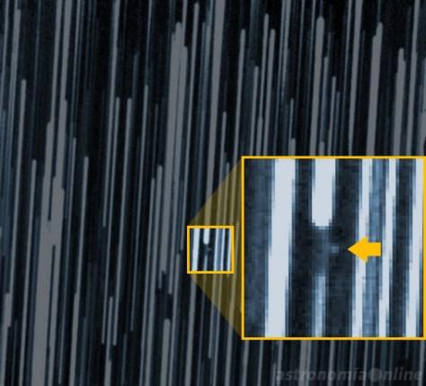 Imagen de 6R10DB9 obtenida el 20 de marzo de 2007 mediante un telescopio Schmidt-Cassegrain de 0,40 metros de diámetro. La magnitud del objeto era de 19.3, por lo que fue necesaria una exposición de 17 minutos 36 segundos para poder fotografiarlo. Créditos: P. Birtwhistle, Great Shefford Observatory (J95).