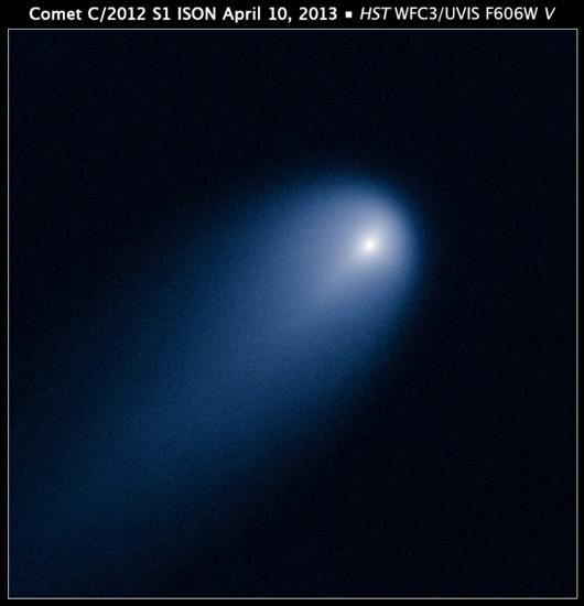 10 Nisan 2013'de Hubble ISON'un görüntüsünü yolladı. (NASA, ESA, J.-Y. Li (Planetary Science Institute))