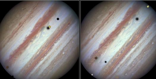 Jupiterde uc golge