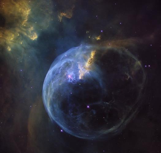 Hubble'dan 26. yaş hediyesi: Kabarcık bulutsusu (NASA, ESA, Hubble Heritage Team)