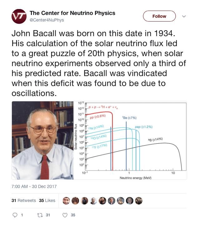 Το πρόβλημα των ηλιακών νετρίνων και η δικαίωση του John Bahcall