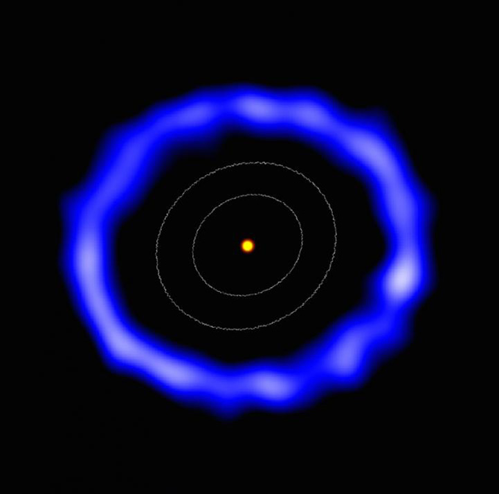 ALMA image of the ring of comets around HD 181327