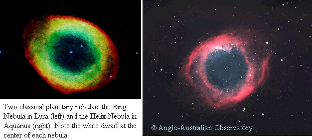 Ring Nebula and Helix Nebula