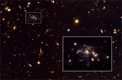 """Spiderweb Galaxy"": a galaxy in the making"