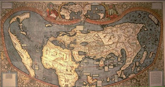 World map at time of Copernicus