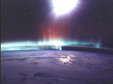 aurorae seen from the Space Shuttle