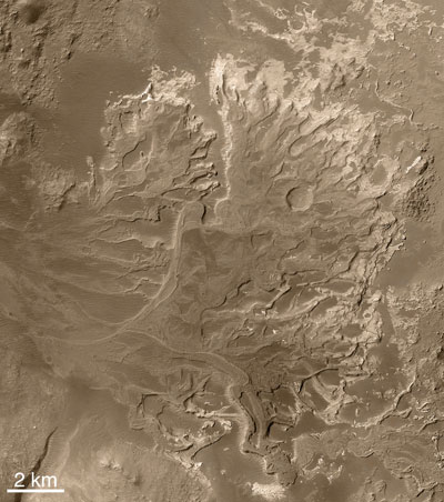 Eberswalde delta is a fossil delta on Mars