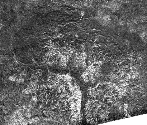 Canyons eroded by liquid methane on Titan