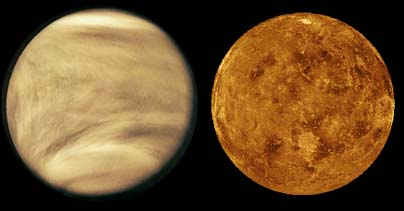 cloudy atmosphere of Venus