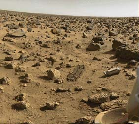 Viking's view of Mars' surface