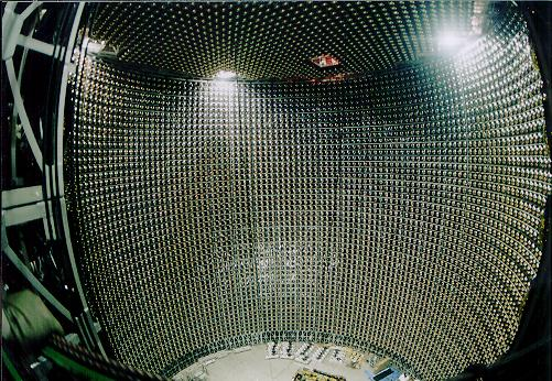 Super-Kamiokande Neutrino Detector's huge water tank