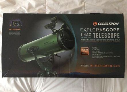 Celestron Explorascope 114az Box