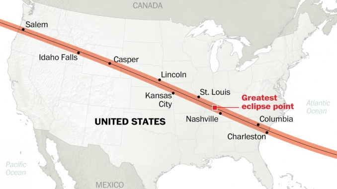 Great American Eclipse to Sweep Country on August 21st