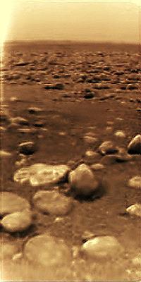 Titan by Huygens module