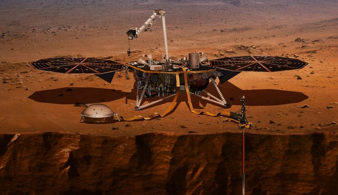 InSight Spacecraft on Mars