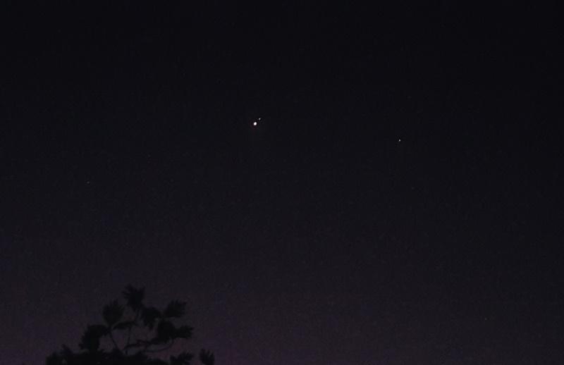 Venus y Saturno, 9 de enero de 2016