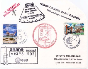 A112 1 - Vol 112 du 21 Octobre 1998 - Passager ARD - Premier courrier Spatial Européen