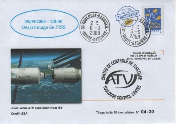 """A181 7 - Vol 181 - 05 Septembre 2008 - ATV """"Jules VERNE"""" Désarrimage de la Station Spatiale Internationale"""