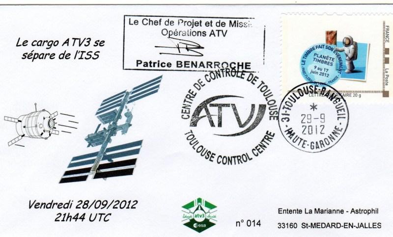 A205 3 - Vol 205 - ATV 3 - 28 Septembre 2012 - Désarrimage de l'ISS avant destruction
