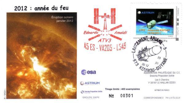 A205 - Vol 205 du 23 Mars 2012 - ATV 3 Edoardo Amaldi