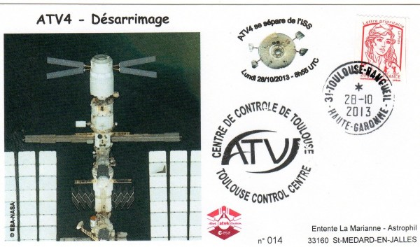A213 3 - Vol 213 - ATV 4 - 28 Octobre 2013 - Désarrimage de l'ISS