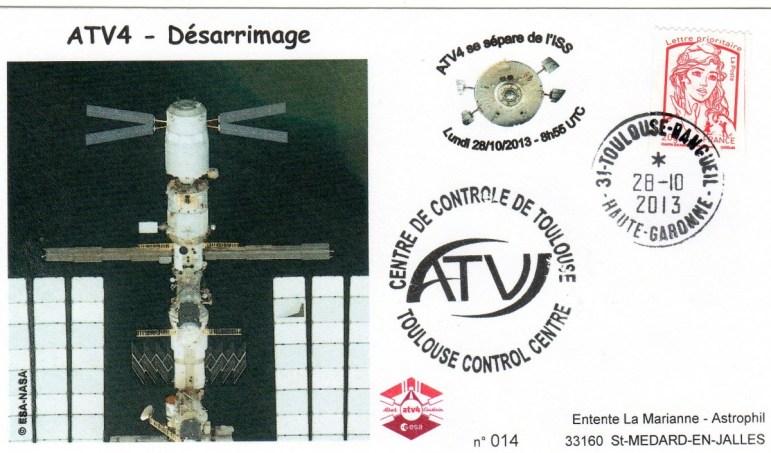 A213 3 - Vol 213 - ATV 4 - 28 Octobre 2013 - Désarrimage de l'ISS