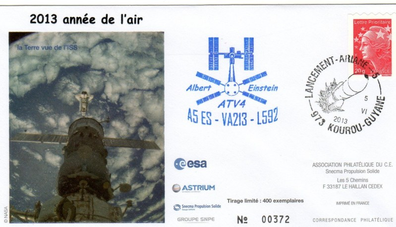 A213 - Vol 213 du 05 Juin 2013 - ATV 4 Albert Einstein