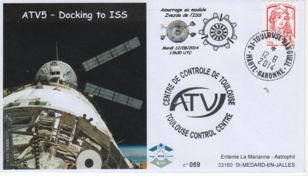 A219 4 - Vol 219 - ATV 5 - 12 Aout 2014 Docking à l'ISS