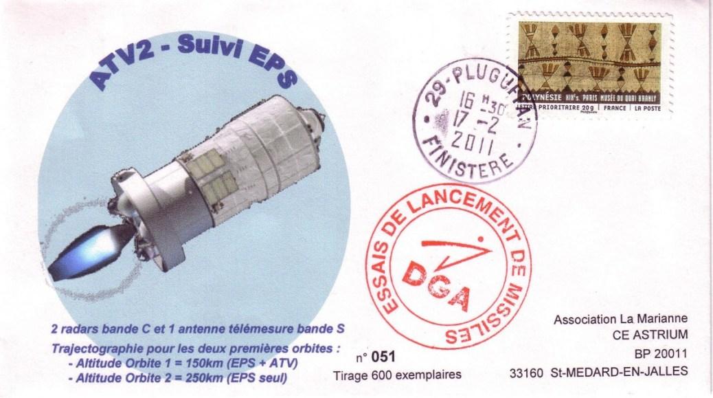 ATV2 Pluguffan2 20110217 - Vol 200 - ATV 2 Johannes Kepler - 17 Février 2011 - Suivi trajectoire radar par centre DGA de Pluguffan Finistère (France)