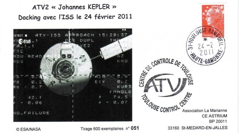 ATV2 TSE2 20110224 - Vol 200 - 24 Février 2011 - Docking ATV 2 Johannes Kepler à l'ISS