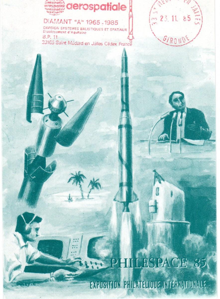 DC002 - Document - 23 Novembre 1985 - Exposition Philespace 85 - Aérospatiale