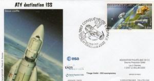 DC004 - Document - 04 Octobre 2007 - 1er jour timbre conquête de l'espace