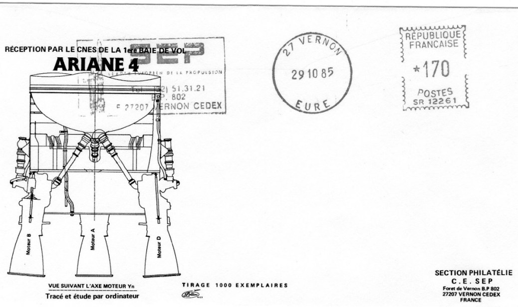 DD012 - Développement Ariane 4 - 29 Octobre 1985 Réception 1er Baie de Vol