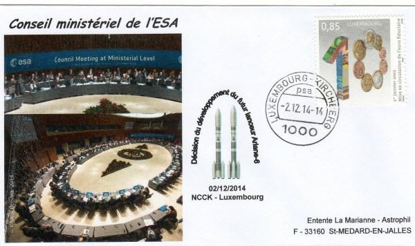 DD017 - Décision Politique Ariane 6 - Vega C - 02 Décembre 2014 Conseil Ministériel de l'ESA (Luxembourg)