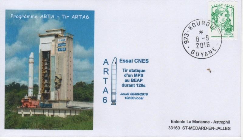 DD020 - Développement Ariane 5 - 08 Septembre 2016 Essai MPS ARTA 6