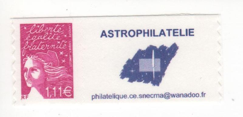 DT003 1 - Document - Timbre personnalisé - Astrophilatélie