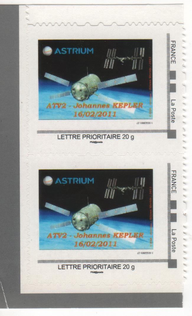 DT004 1 - Document - Timbre à Moi - 16 Février 2011 - Lancement ATV 2 Johannes Kepler