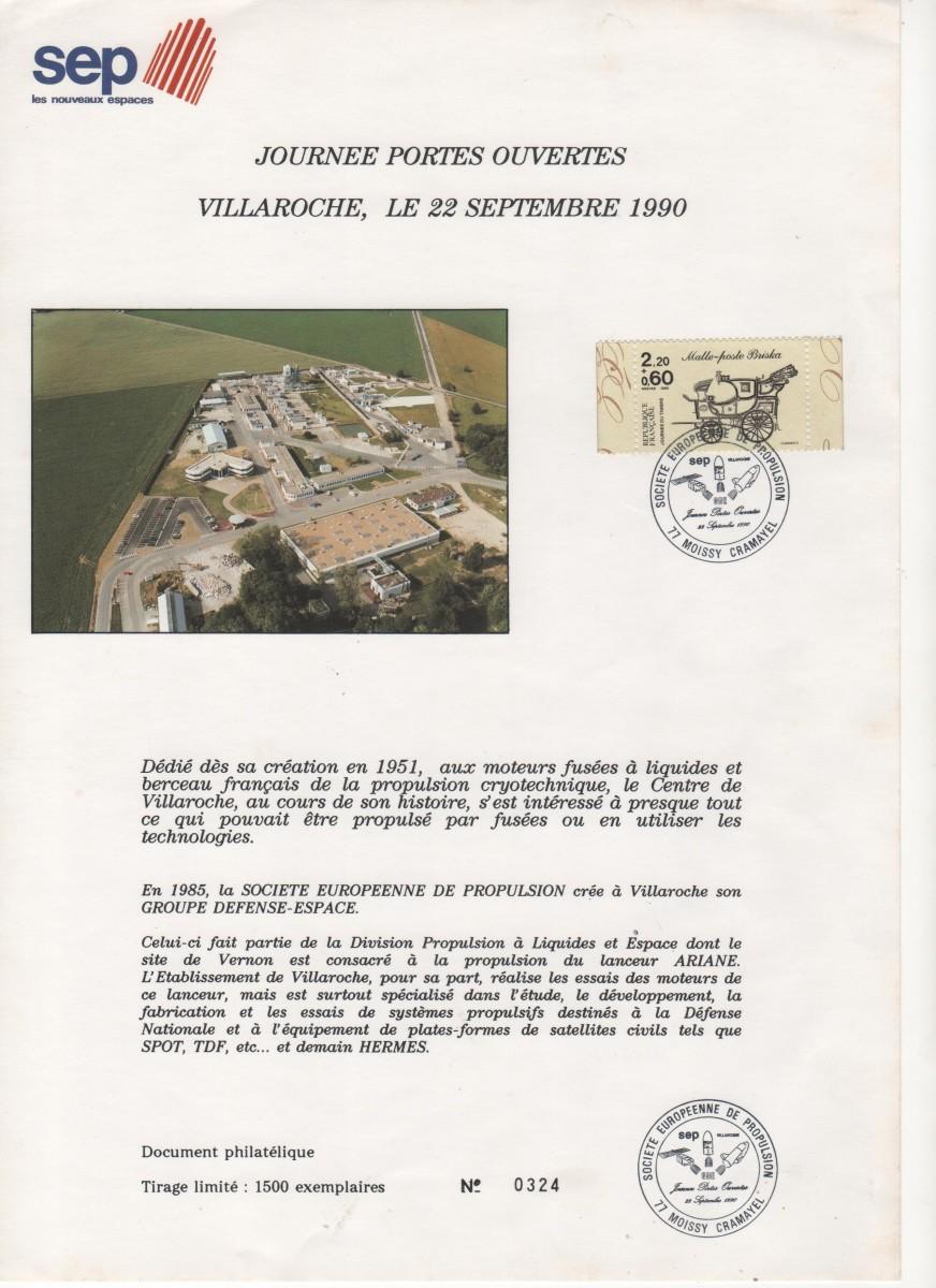 011 - Divers : Portes ouvertes SEP Villaroche 22 Septembre 1990
