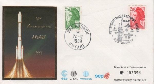 012 - Document : Ariane 10ème anniversaire - Kourou 24 Décembre 1989