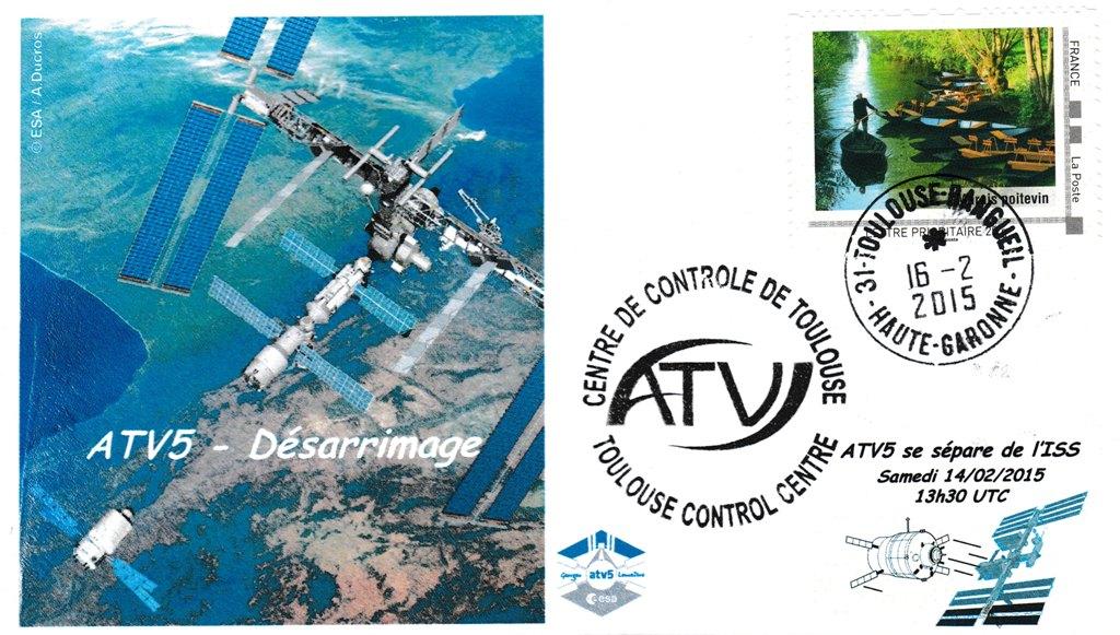 ATV5 Dedocking 20150216 - Vol 219 - ATV 5 - 16 Février 2015 - Désarrimage de l'ISS