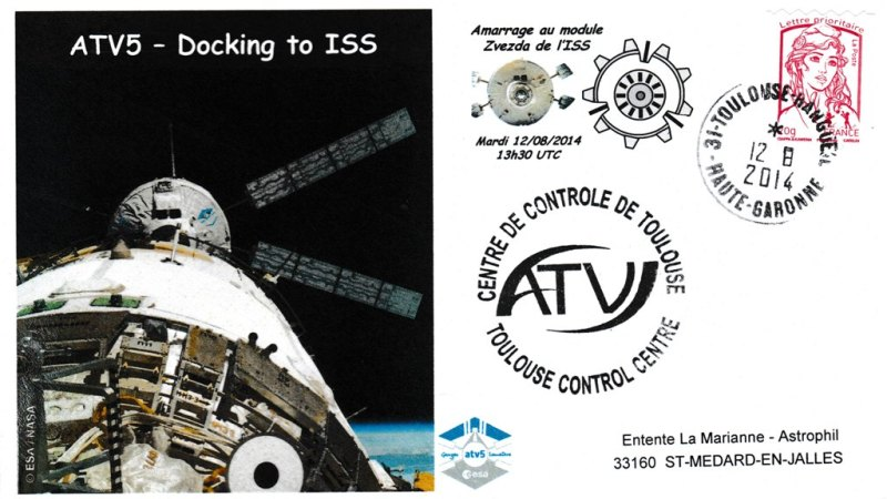 ATV5 Docking 20140812 - Vol 219 - ATV 5 - 12 Aout 2014 - Docking à l'ISS