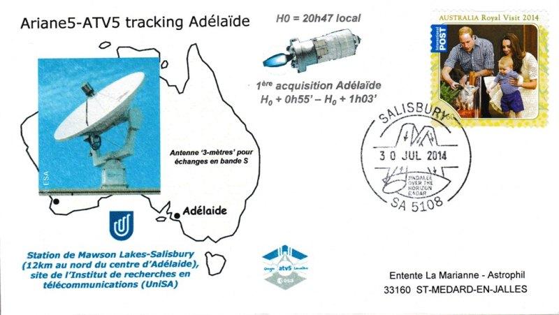 ATV5 Tracking Adelaide 20140730 - Vol 219 - ATV 5 - 30 Juillet 2014 - Station de poursuite Radar, Adelaïde (Australie)
