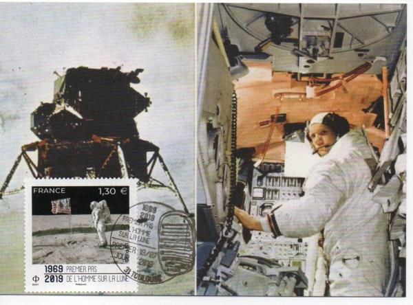 img20191107 18120019 - Premier jour timbre 50 ans du premier pas de l'homme sur la lune - Toulouse cité de l'Espace 19 Juillet 2019 - (Carte Maximale premier jour)